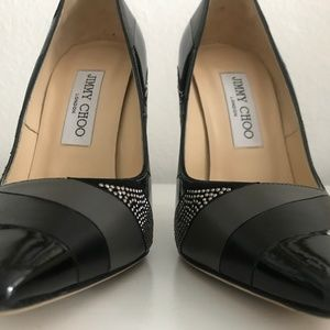 Jimmy Choo Shoes - Jimmy Choo Anouk Studded Patchwork Pumps SZ 36
